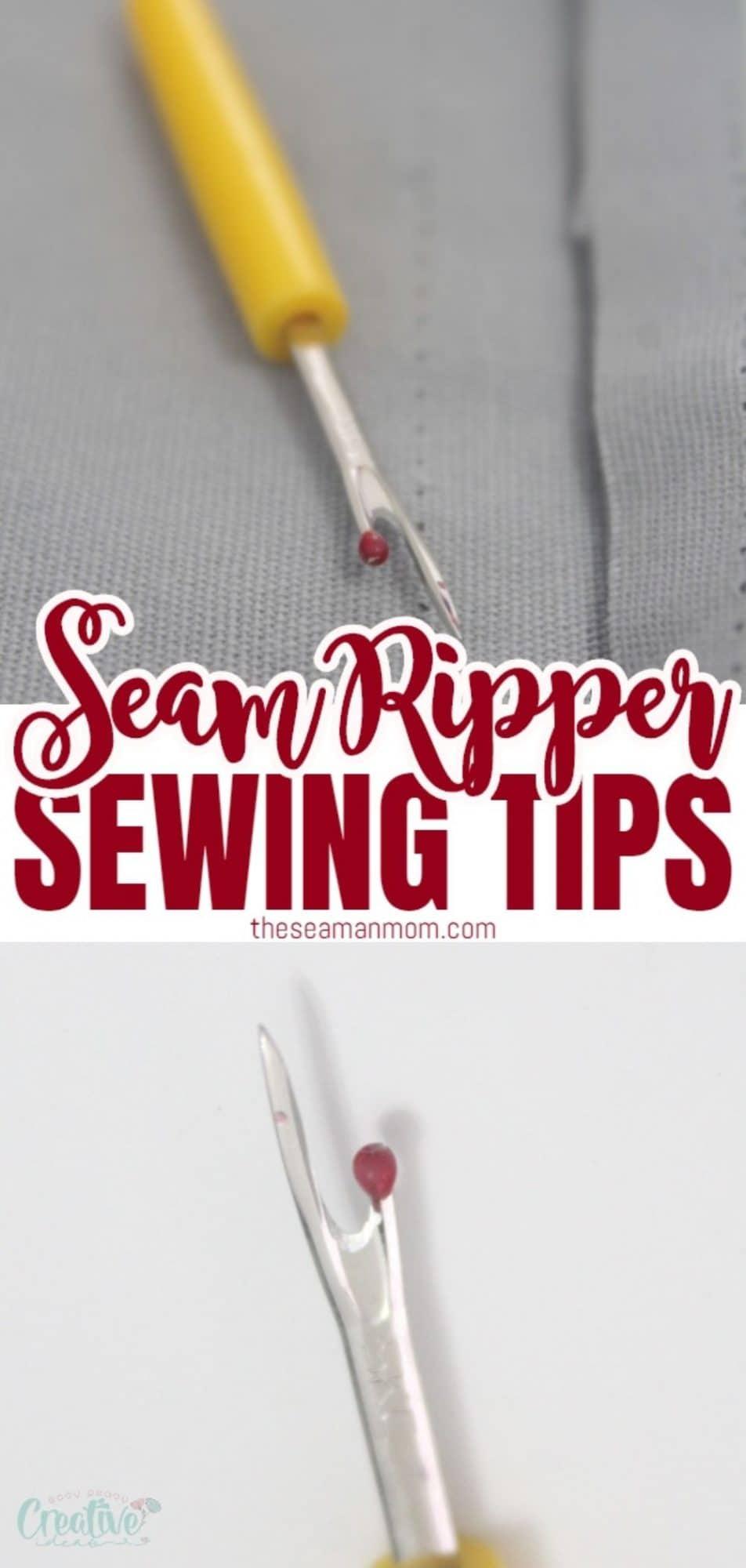 Seam ripper use