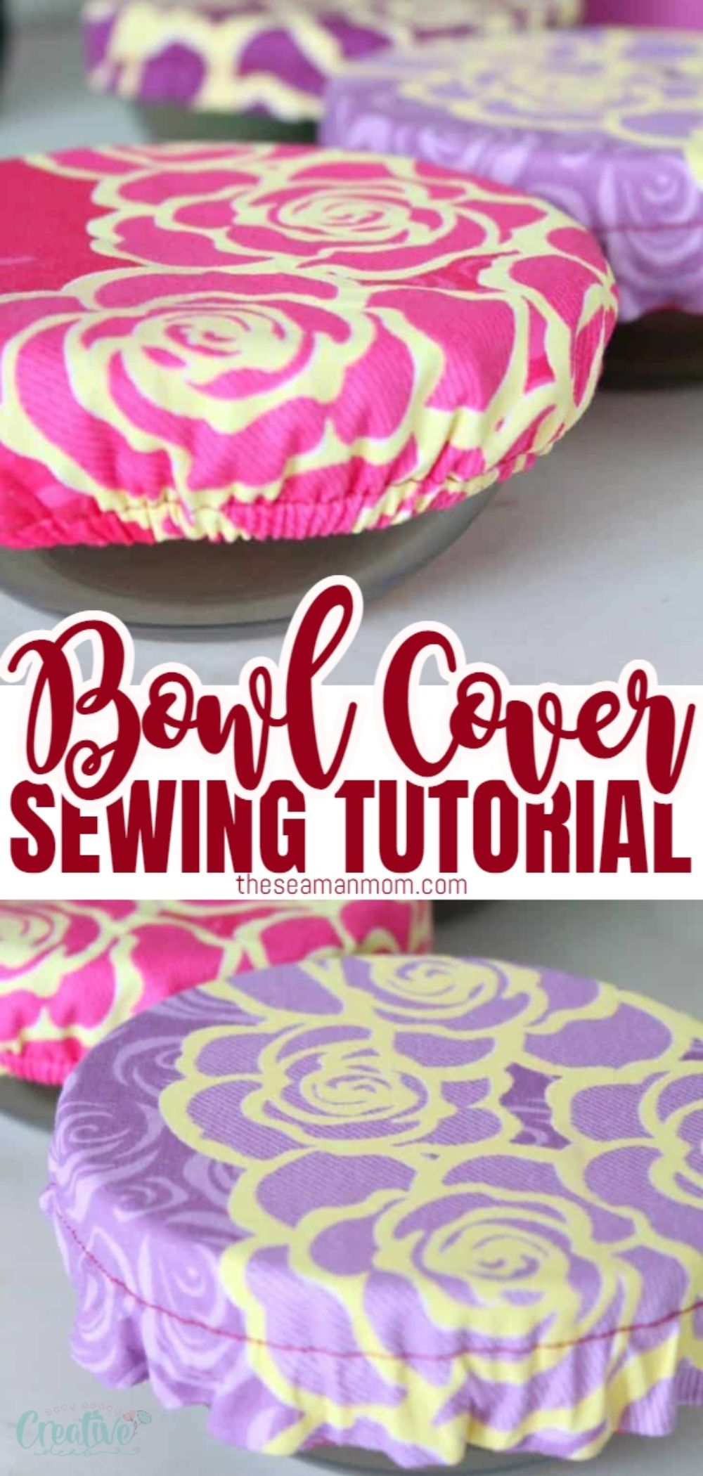 Create personalized fabric bowl covers and tote your side dishes to potlucks and barbecues in style! Make your own customized DIY bowl covers with this easy and quick sewing tutorial! via @petroneagu