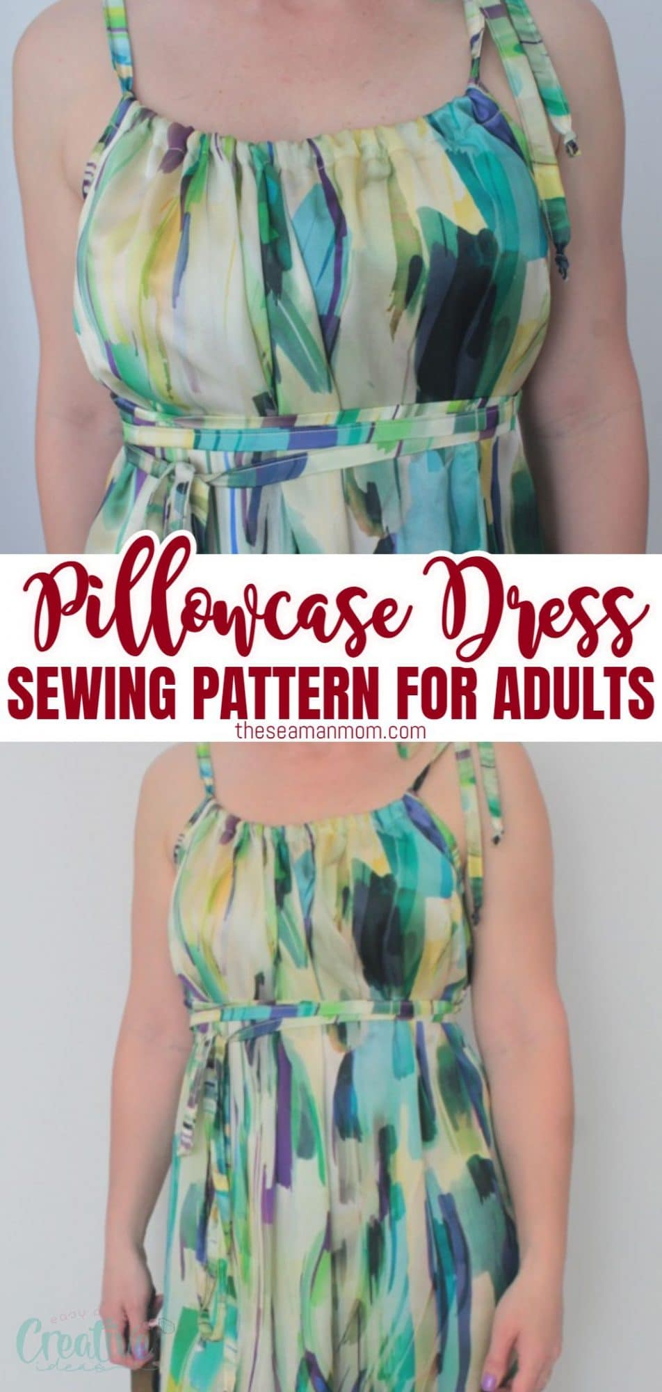 Image of a pillowcase dress for adults