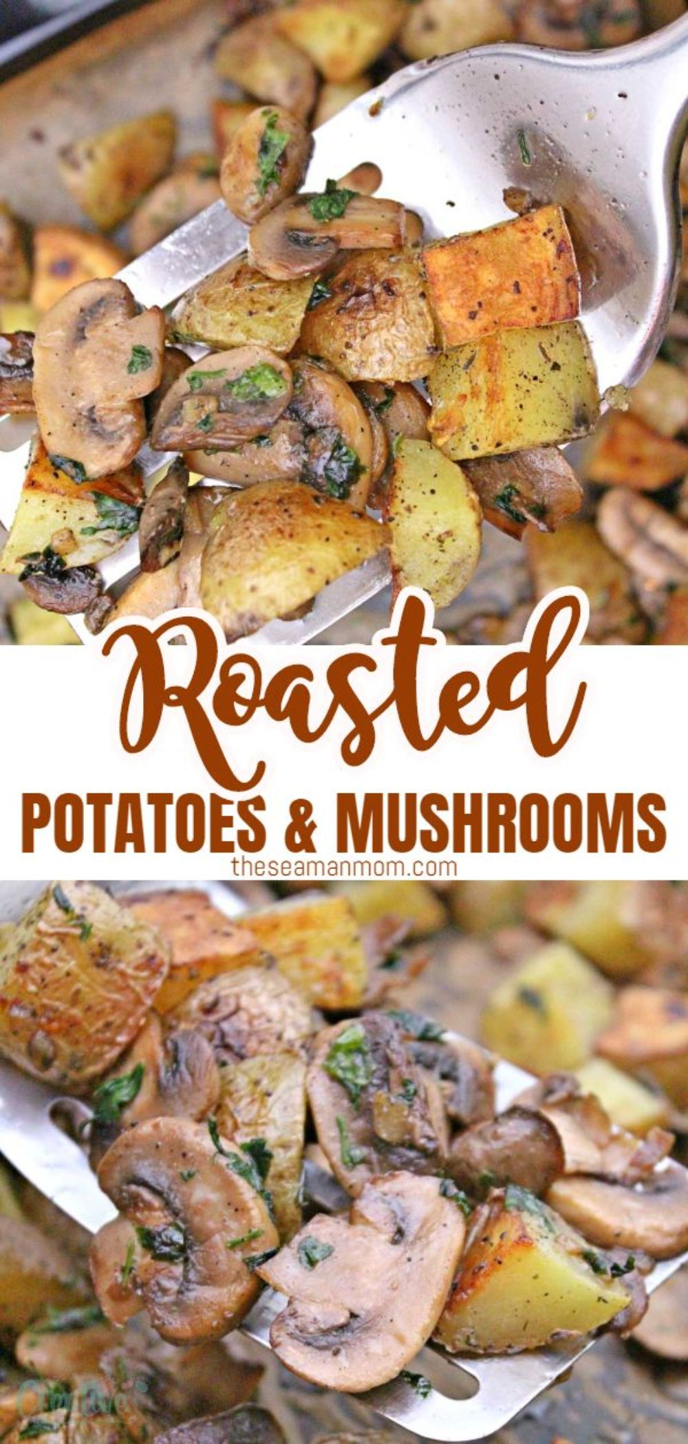 This roasted potatoes and mushrooms recipe makes a nice side dish to bake alongside a roast in the oven but it's also great as a meal on its own! The ingredients are simple but the flavors are incredible and the whole family will enjoy these tastypotatoes and mushrooms! via @petroneagu