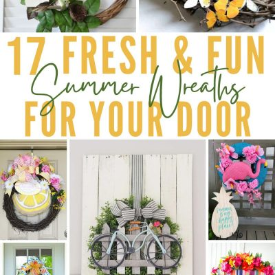 17 Gorgeous SUMMER WREATH IDEAS that will blow your mind!