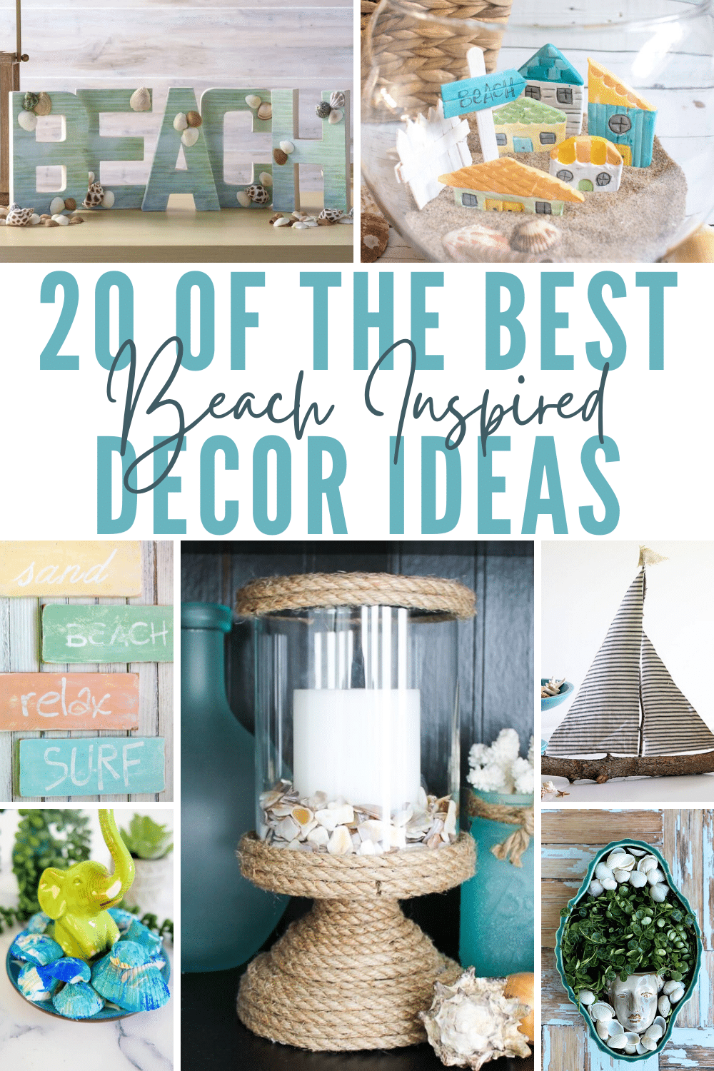 Easily transform your home into your very own oasis, literally, with these gorgeous and totally affordable 20 Beach DécorIdeas! via @petroneagu