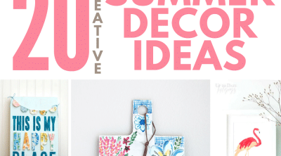 Photo collage of summer decor ideas to make for home