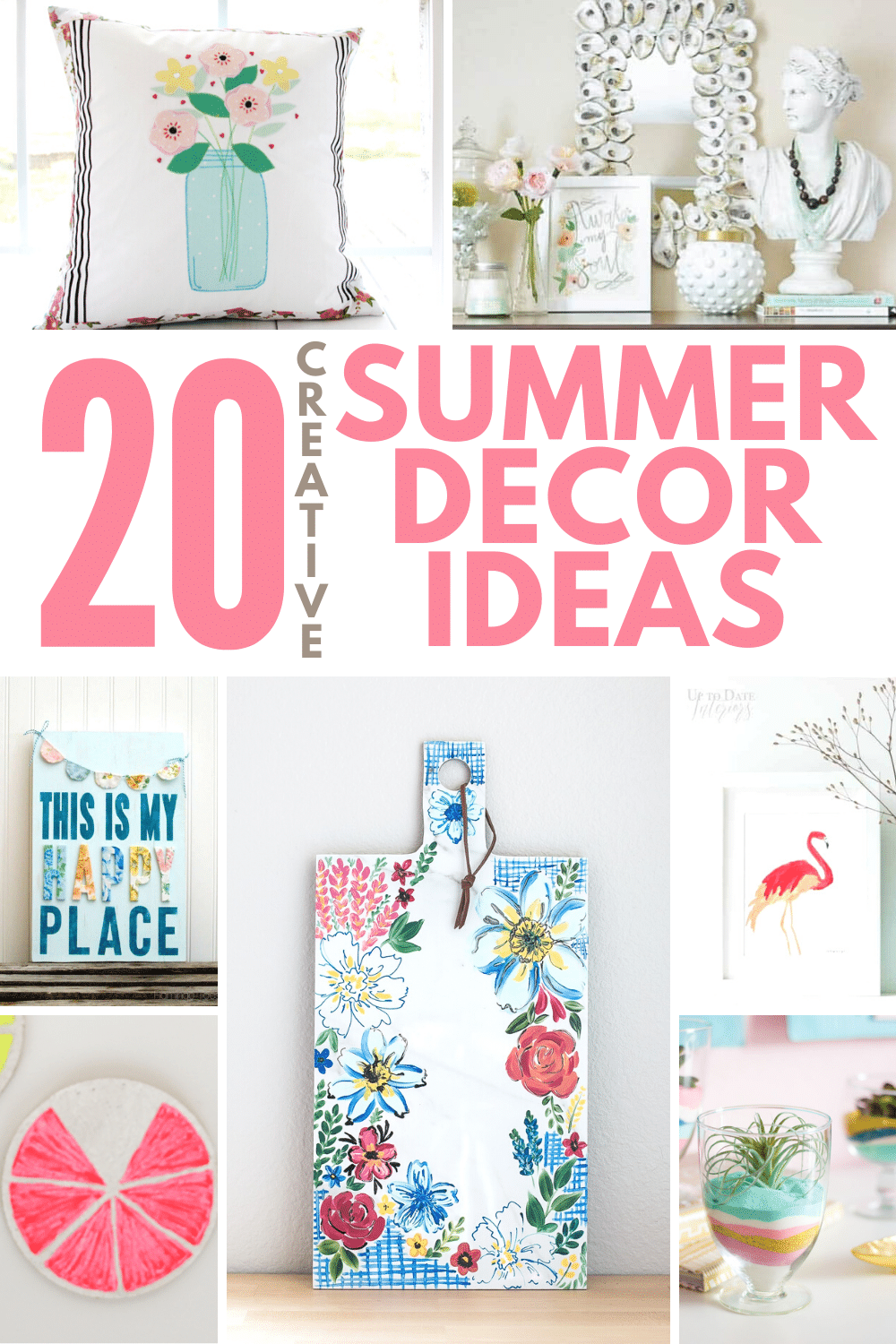 Love summer and want it to be the focus in your house, forever and always? Freshen your home up and give it a summer feeling with these DIY summer décorideas! via @petroneagu