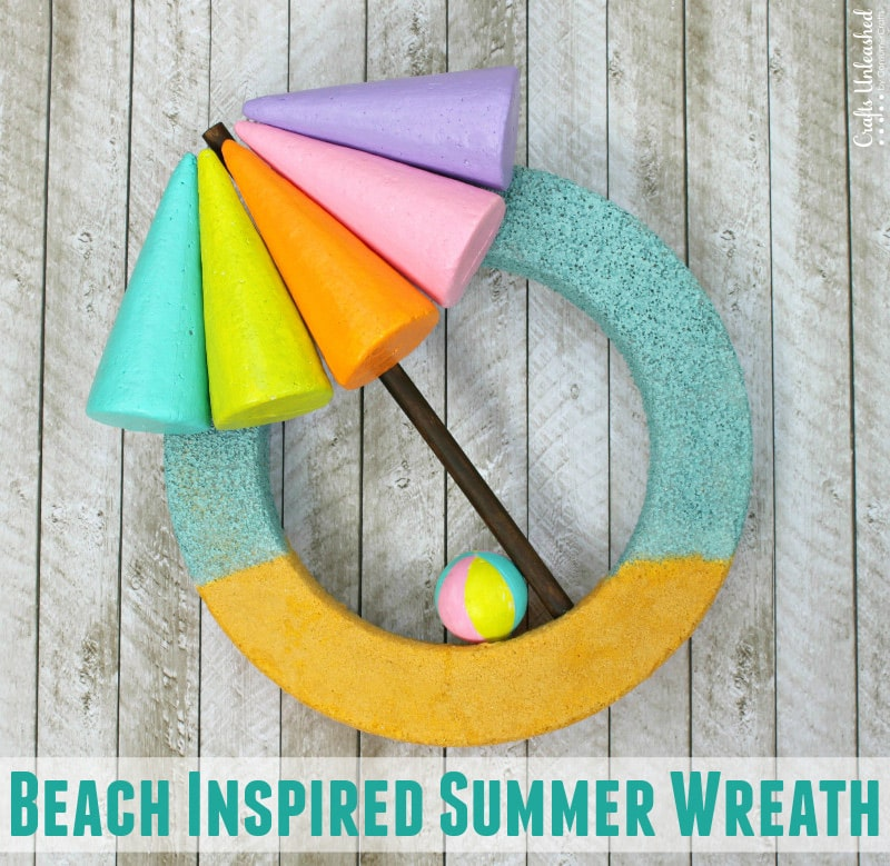 Image of DIY beach themed summer wreath