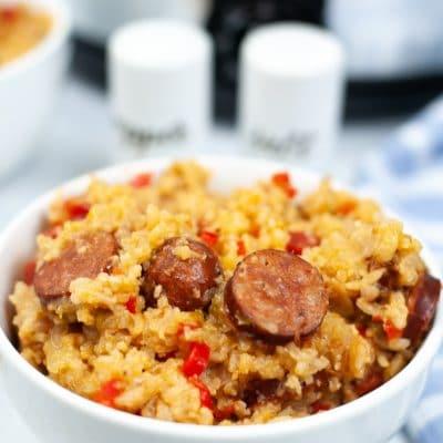 Slow cooker jambalaya with sausage