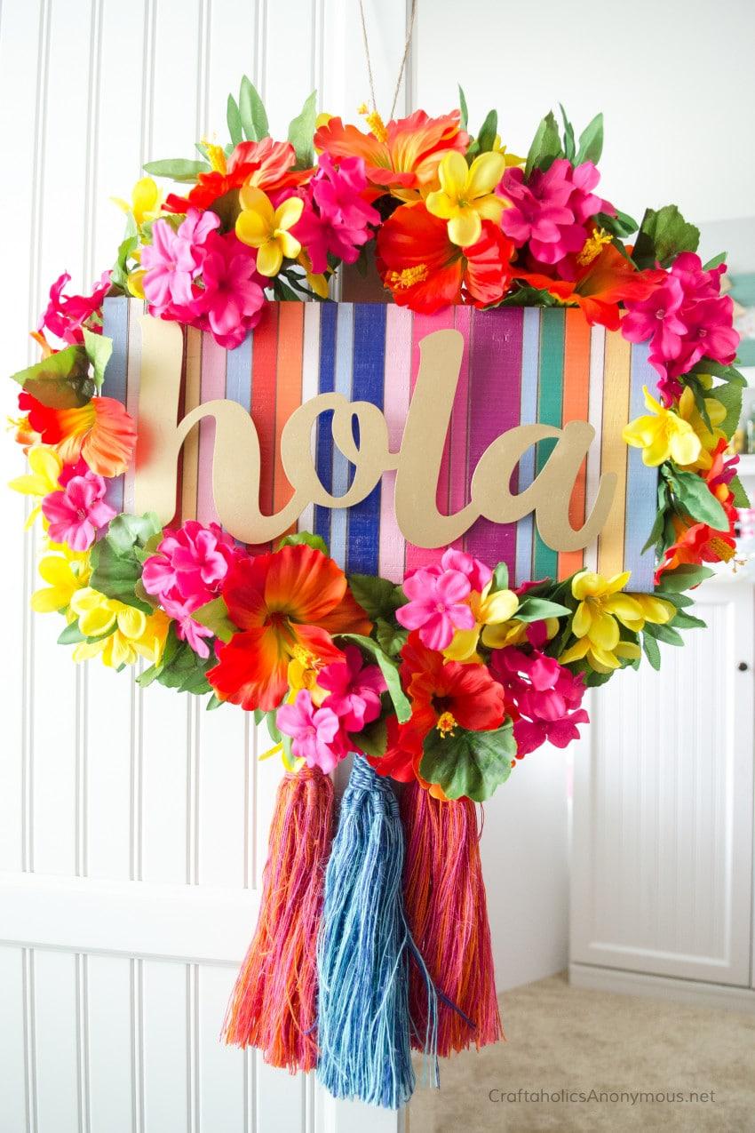 Image of a DIY fiesta summer wreath