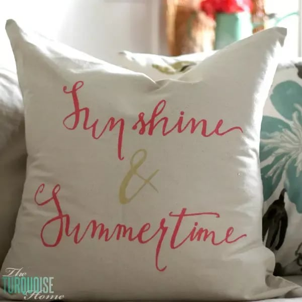 Sunshine and Summertime Throw Pillow room decor idea