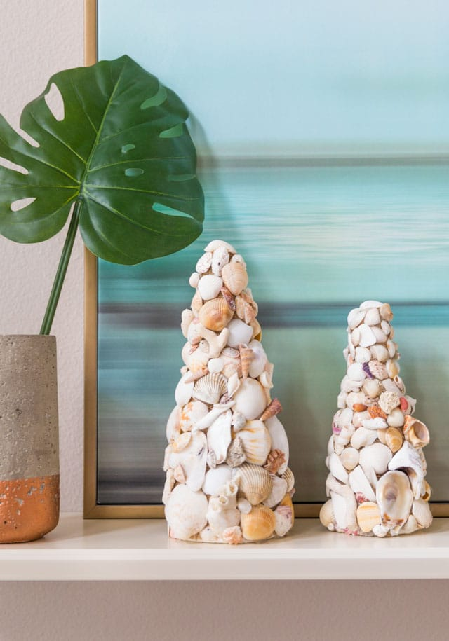 DIY Seashell Cones summer decor idea