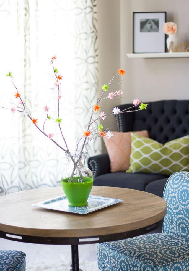 Flowering branches diy decor