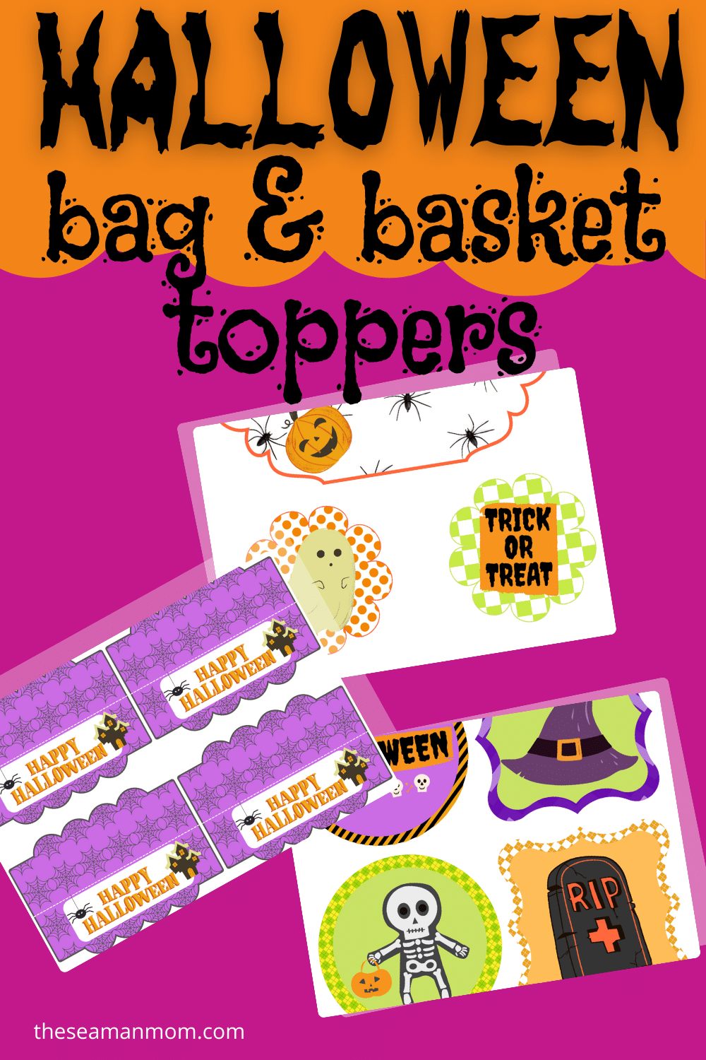 It's so much fun to add little decorative elements to your Halloween party and décor, as well as do fun things for your children! My pack of Halloween toppers for the goodie bags and for the cupcakes or cakes can help with that! via @petroneagu