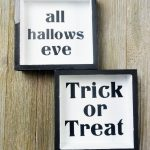 Photo of two farmhouse halloween decor signs for walls