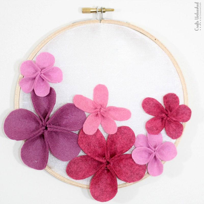 Felt flower projects