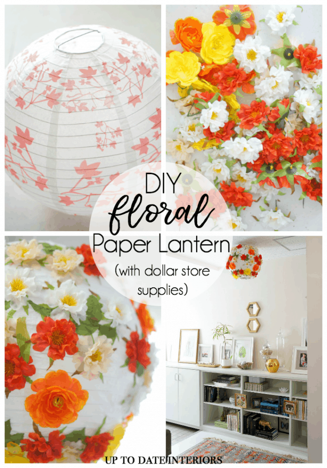 Floral paper lantern craft