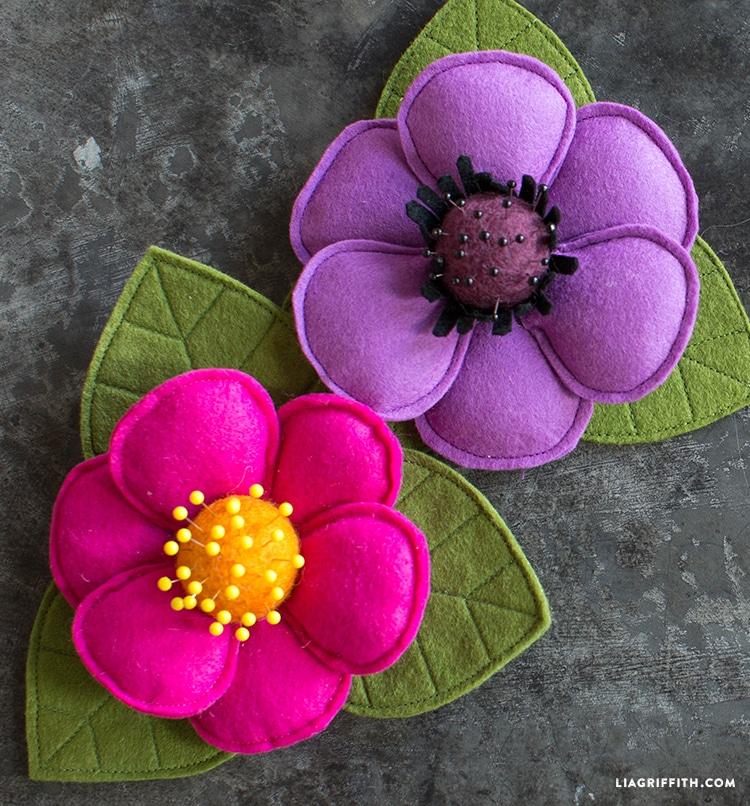 Flower pincushion diy