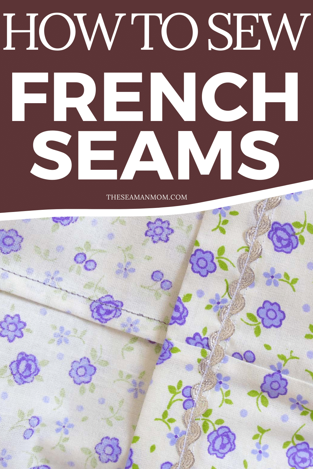 Photo collage of French stitch technique