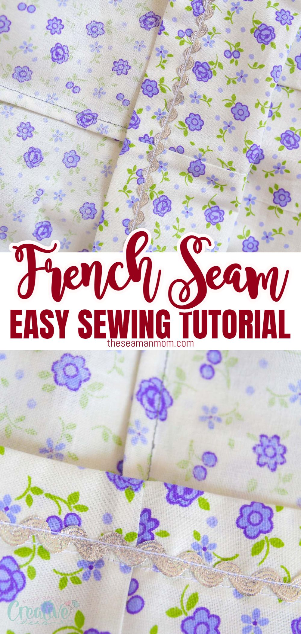 Learn how to make a French seam and create a professional, clean finish to your sewing projects! Sewing French seams make simple, easy to make, neat and elegant finishes to your lightweight and medium garments! via @petroneagu