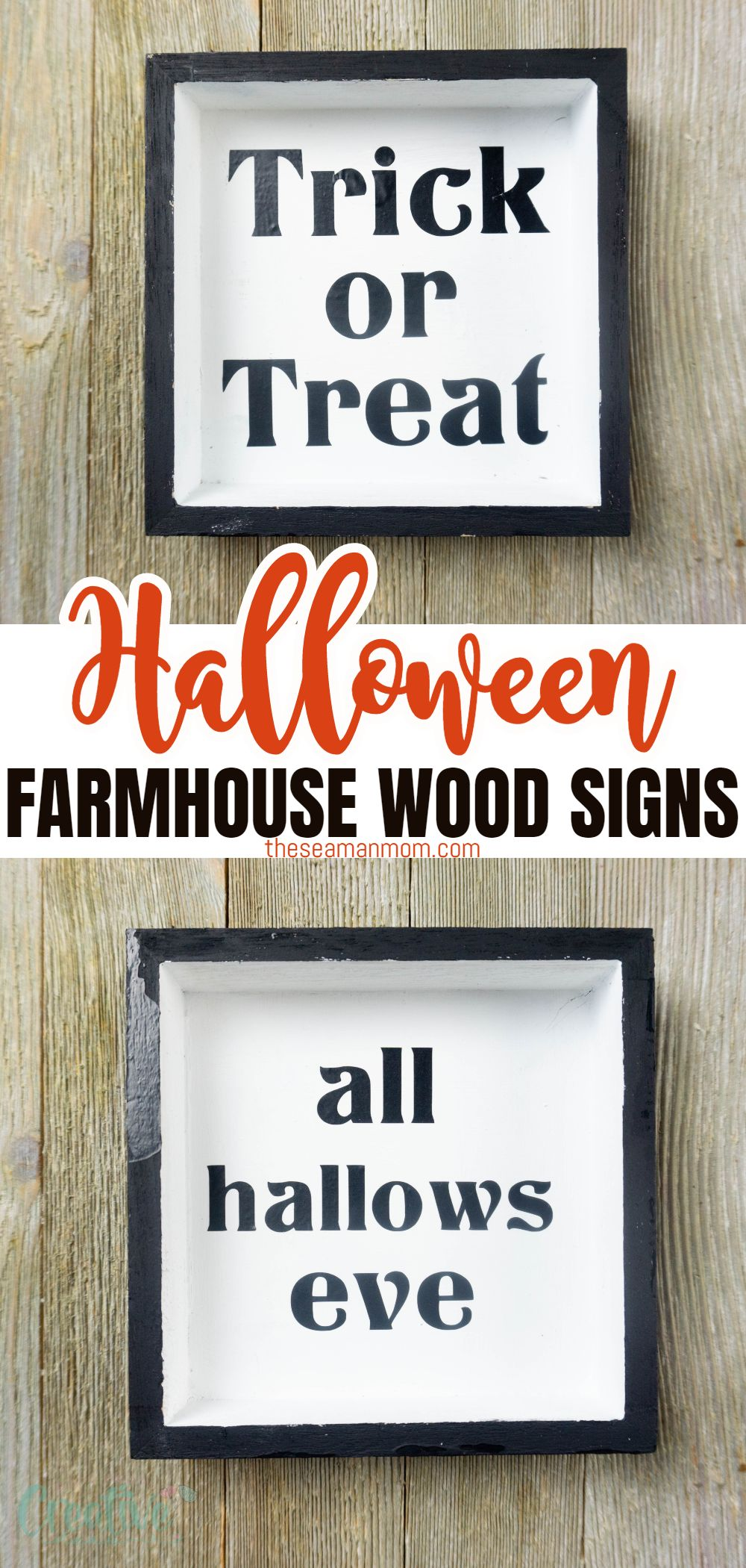 Halloween is the best time of the year for creating decorations and different things that your children can proudly display, and have fun creating them as well. Today I wanted to share with you this easy Cricut craft with a bit of a farmhouse vibe: Halloween wood signs. via @petroneagu