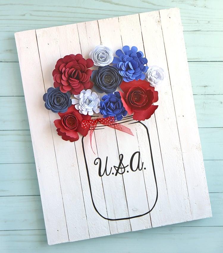 Mason jar flower craft