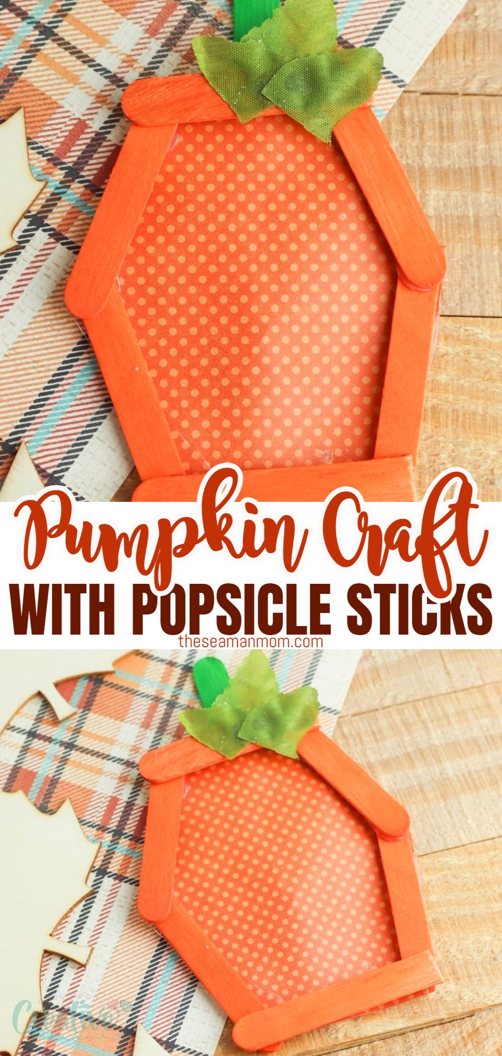 With this adorable pumpkin craft, your kids can have a blast making their own fall project using popsicle sticks and paper! via @petroneagu