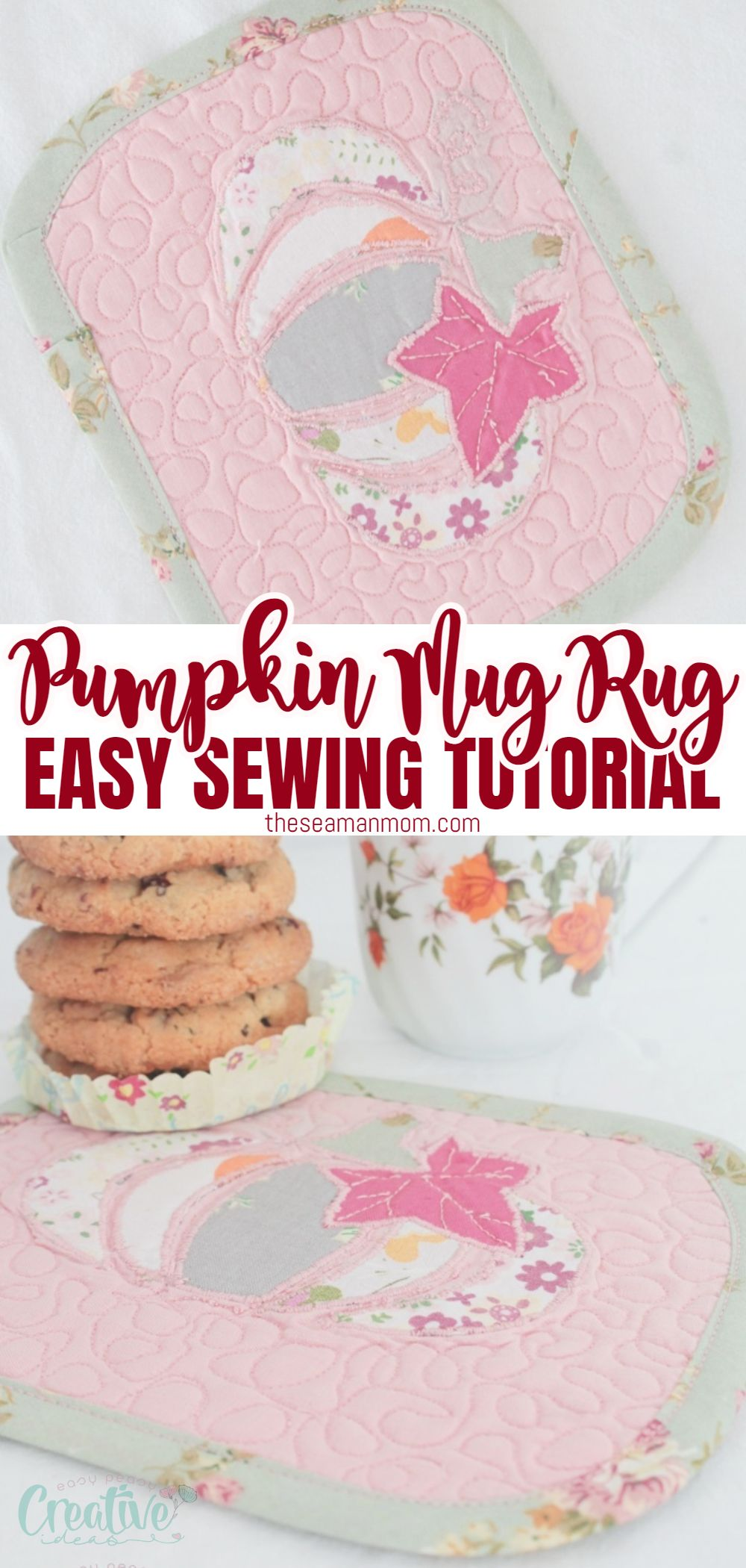 No need to go to the pumpkin patch to get yourself a cute gourd! Just sew a little pumpkin mug rug with this easy peasy tutorial for a quilted mug mat decorated with a pumpkin applique! via @petroneagu