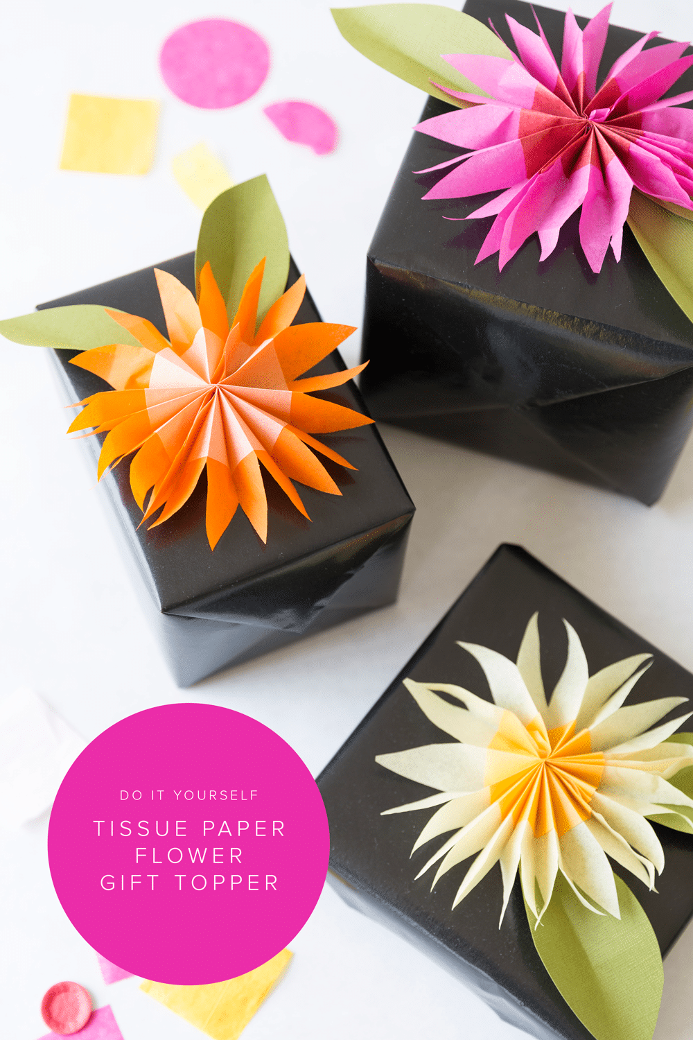 Gift toppers flower craft