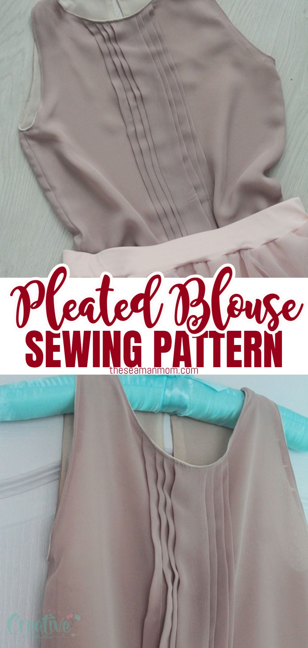 Effortlessly incorporate a romantic design into your every day style with a simple but adorable blouse with pleats. This pleated blouse pattern helps you explore new textures and designs with a unique garment piece! via @petroneagu