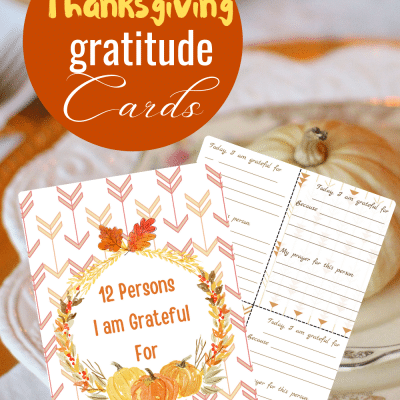 PRINTABLE THANKSGIVING CARDS 12 persons I am grateful for
