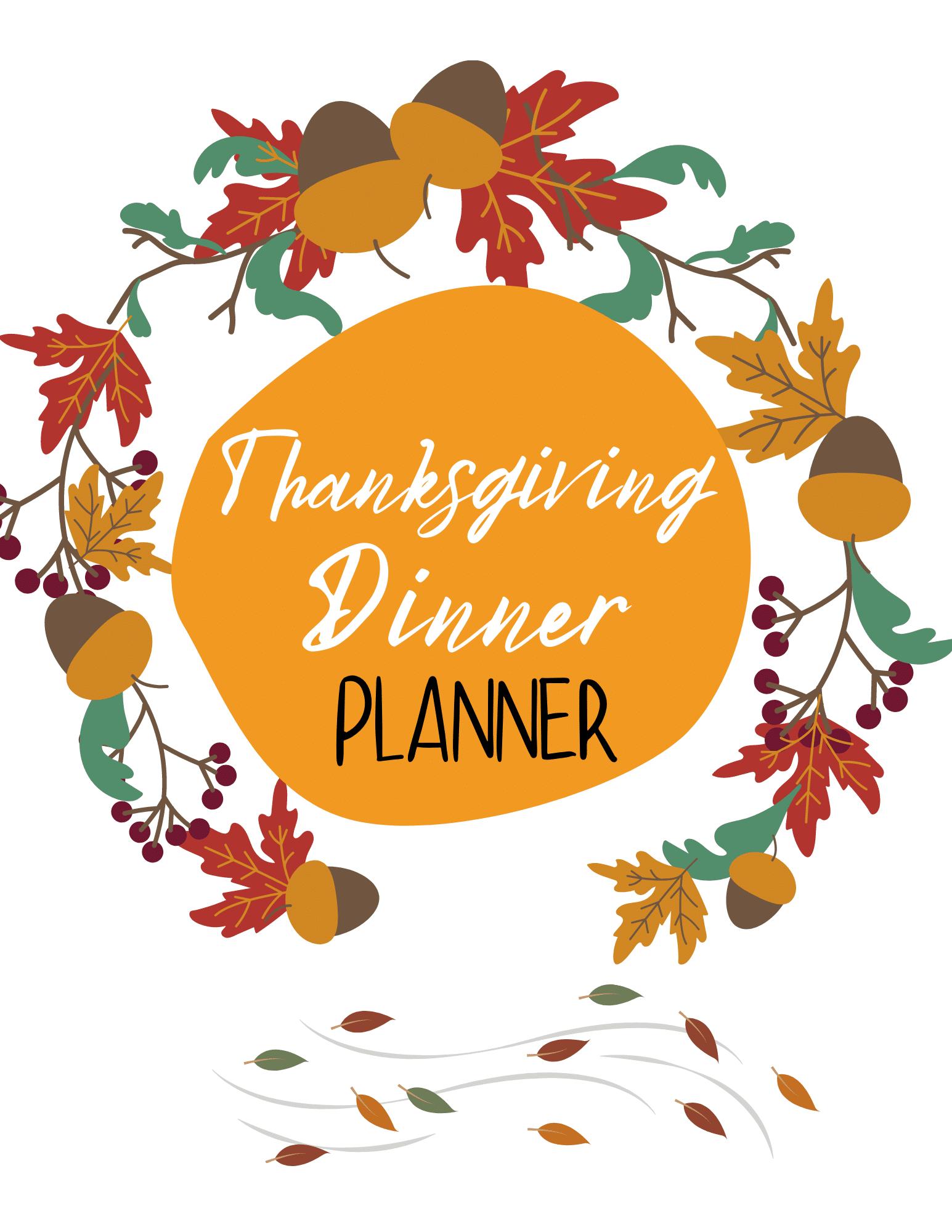 Printable Thanksgiving planner