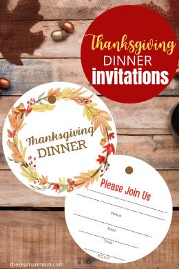 Mockup image of Thanksgiving invitations to print at home