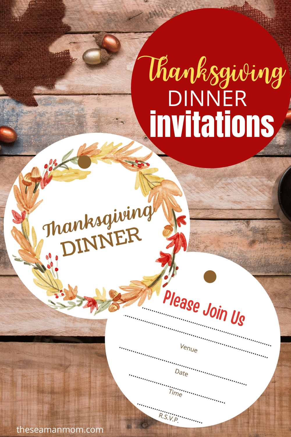 Get your guests excited for a delicious Thanksgiving dinner with these free Thanksgiving invitations! Grab the file and use it to create an invite that will make them want to come! via @petroneagu
