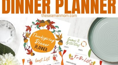 Photo collage of Thanksgiving planner