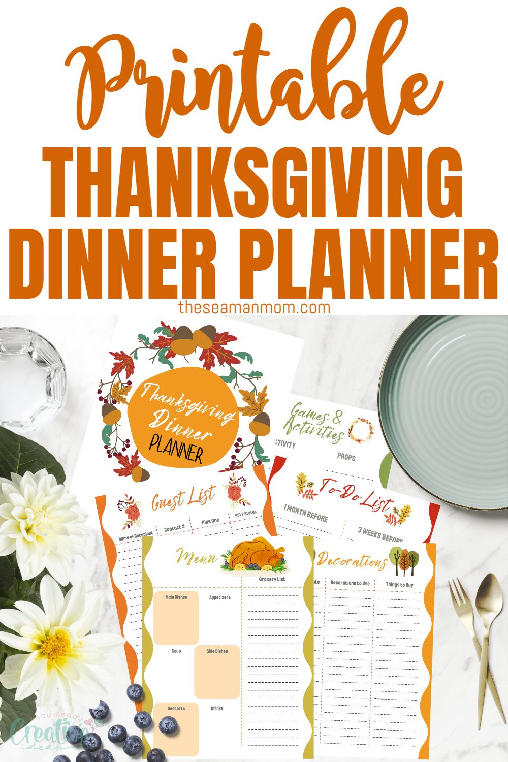 Get ready to celebrate Thanksgiving with your family and friends this year with the help of this Thanksgiving planner! This Thanksgiving dinner planner will help you plan out what to do before, during, and after Thanksgiving so that all of your guests have an enjoyable experience! via @petroneagu