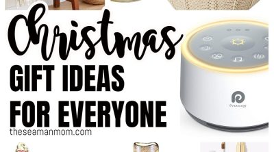 A photo collage with Christmas gift ideas