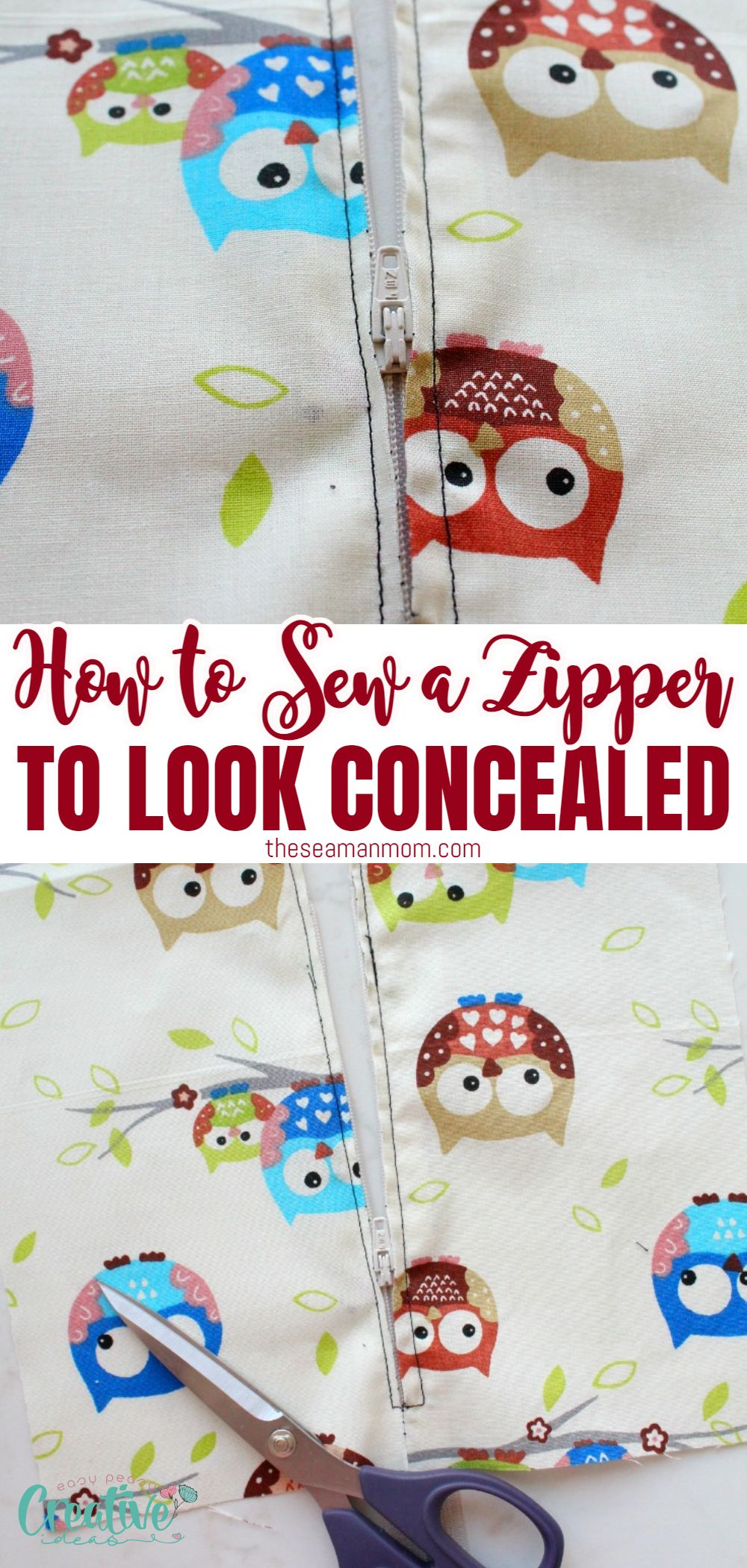 The thought of sewing a zipper into a skirt intimidates you? Learn how to sew a zipper on a skirt with this quick and easy technique! With this simple method, you'll be able to insert a concealed zip in any garment! via @petroneagu