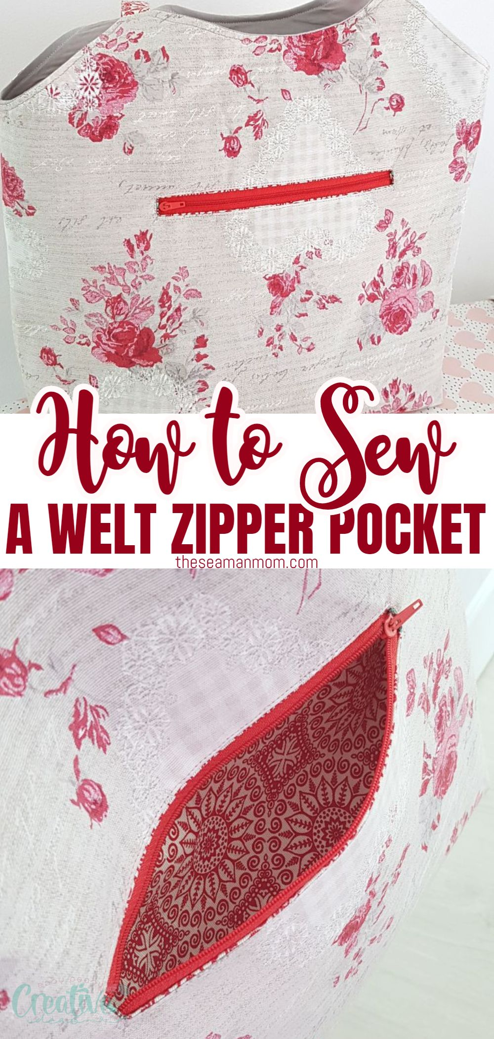 Love sewing bags with lots of pockets? Now you can customize and personalize them even further with a practical and elegant welt zipper pocket! Here you'll find everything you need to know to make a beautiful welt pocket for your handbag or other accessory! via @petroneagu